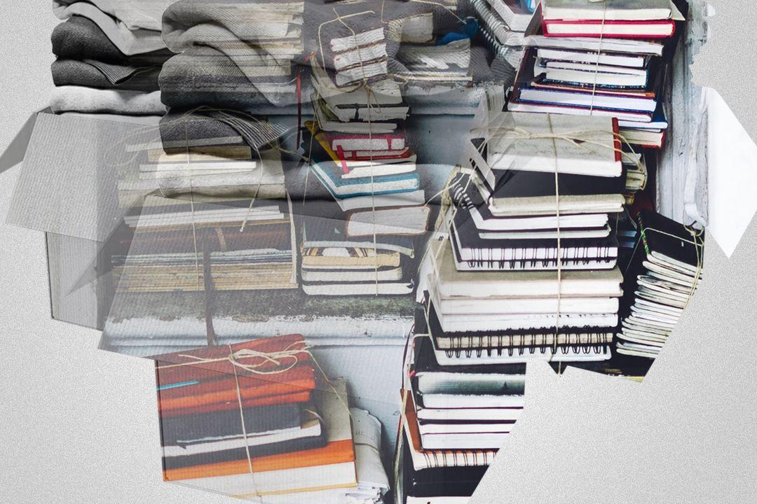 closeup photo of assorted-color book lot