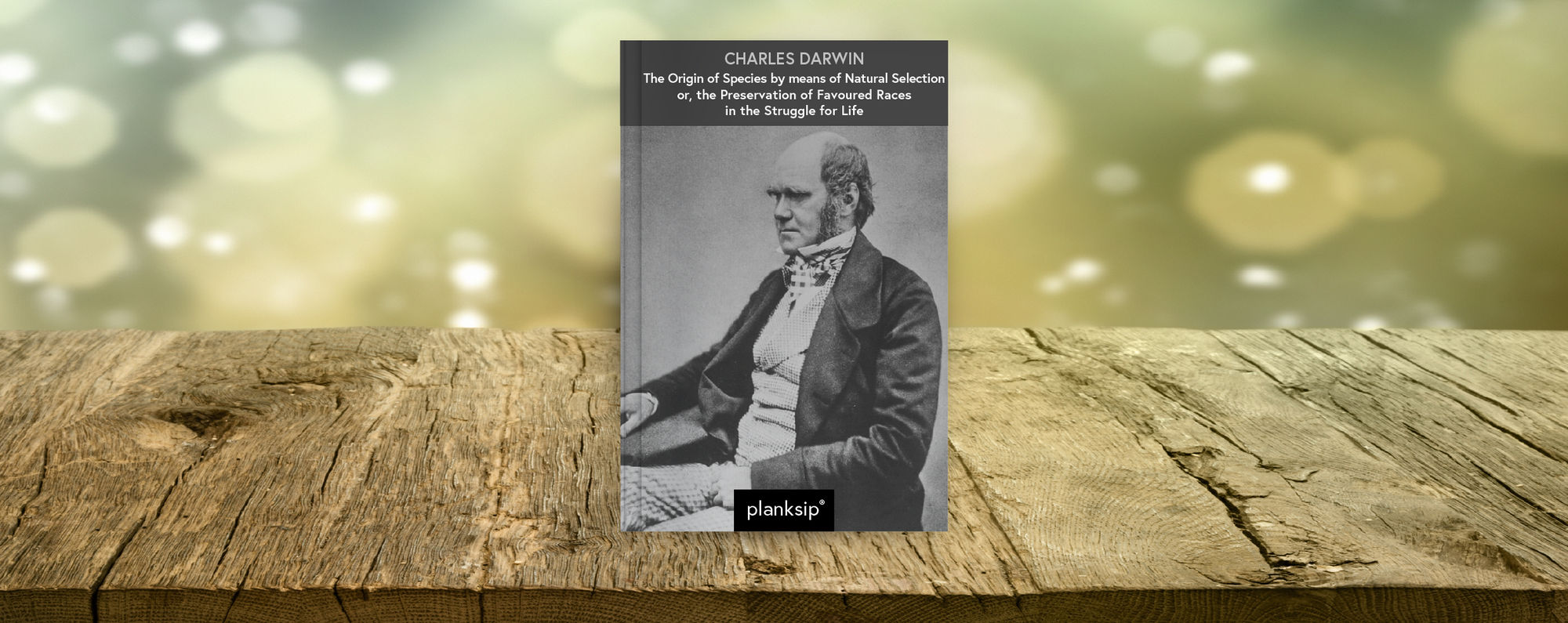 The Origin of Species by means of Natural Selection by Charles Darwin (1809-1882). Published by planksip®