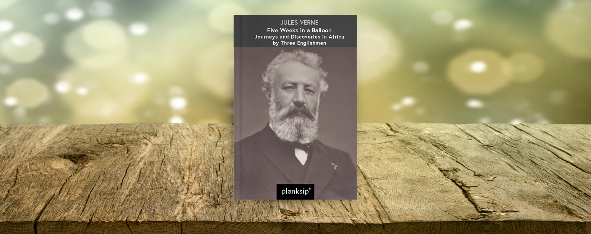 Five Weeks in a Balloon by Jules Verne (1828-1905). Published by planksip